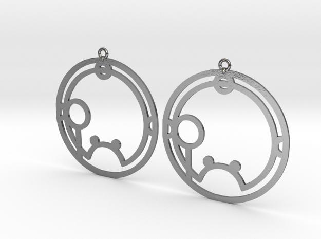 Shauna - Earrings - Series 1 in Polished Silver