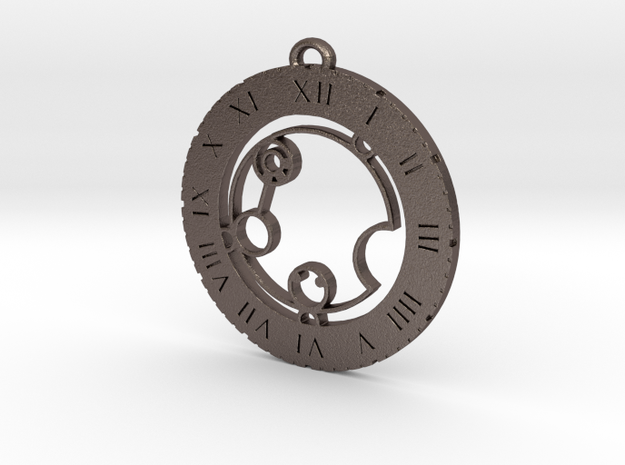 Katalina - Pendant in Polished Bronzed Silver Steel