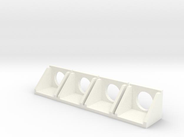 N Culvert headwall 1:160 ø1000mm 4pc in White Processed Versatile Plastic