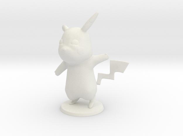 Pikachu in White Natural Versatile Plastic