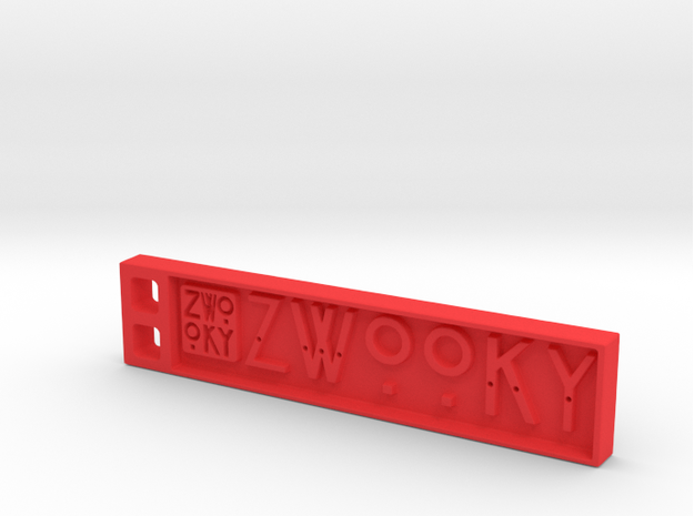 ZWOOKY Style 09 Sample in Red Processed Versatile Plastic