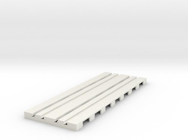 P-65stp-straight-dbl-track-110-pl-1a in White Natural Versatile Plastic