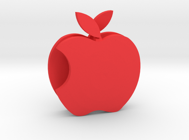 Apple Sculpture in Red Strong & Flexible Polished