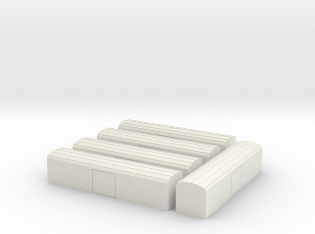 Set Kühlwagen Ibbqs 826 TT 1/120 ; 1:120 in White Strong & Flexible