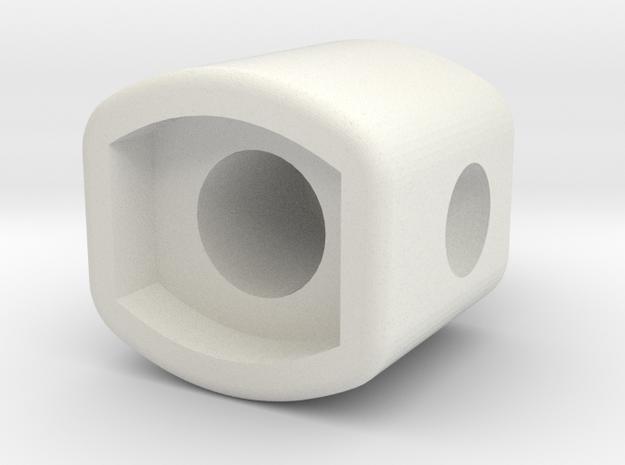 Body-Shortv2 in White Natural Versatile Plastic