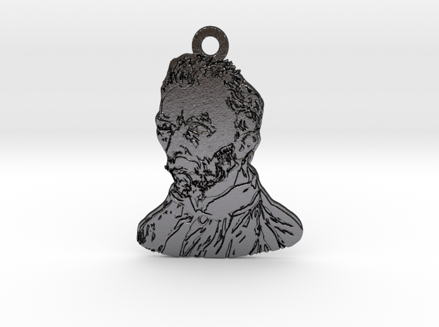 Van Gogh in Polished and Bronzed Black Steel