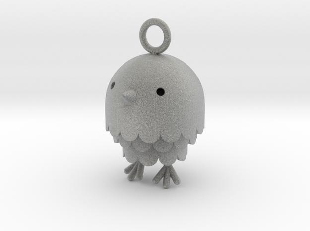 """Peep"" Bird Pendant 3d printed"