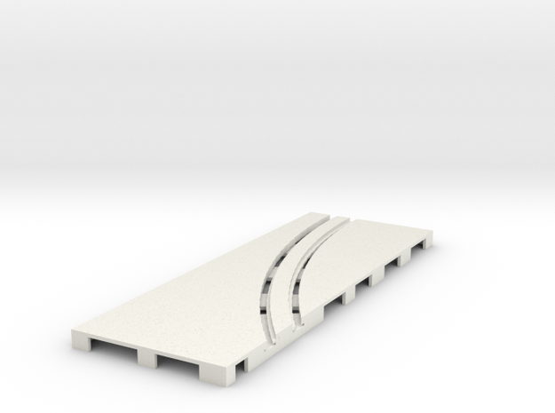 P-65stp-straight-lh-curve-outer-145r-100-pl-1a in White Natural Versatile Plastic