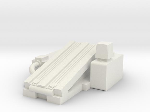 Bass Trap Pedal in White Natural Versatile Plastic