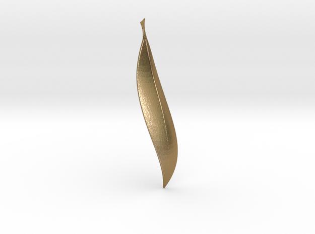Leafy1 in Polished Gold Steel