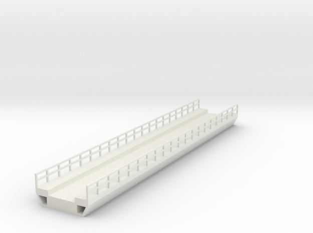 N Modern Concrete Bridge Deck Single Track 200mm in White Natural Versatile Plastic