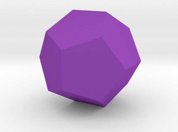 Dodecahedron in Purple Processed Versatile Plastic