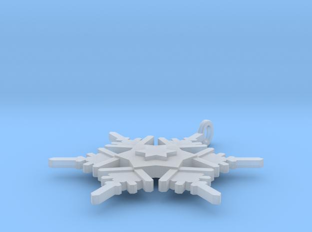 Snowflake Pendant Geni 3d printed