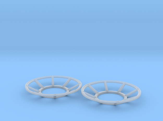 YT1300 FM 1/144 TURRET WELL WINDOW SET  in Smooth Fine Detail Plastic