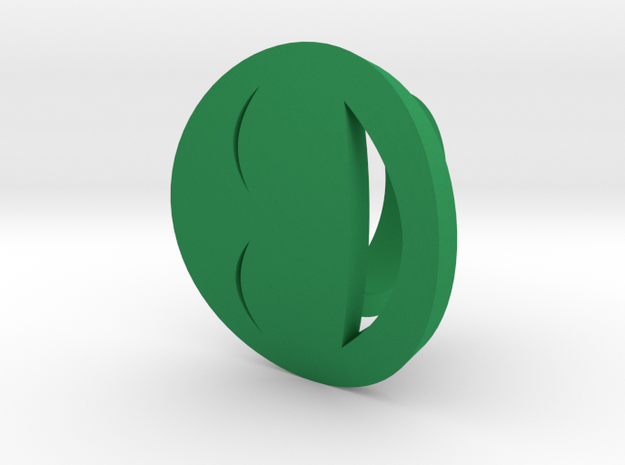 Smile/laughing Ring Size 7, 17.3 mm in Green Processed Versatile Plastic