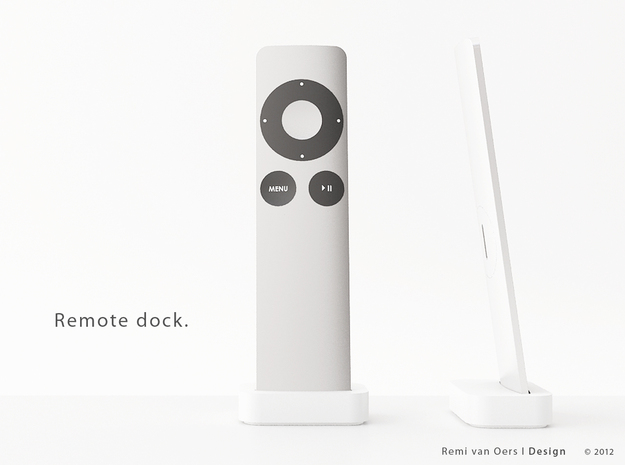 Remote dock in White Processed Versatile Plastic