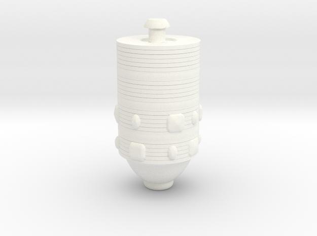 Karg arm  in White Processed Versatile Plastic