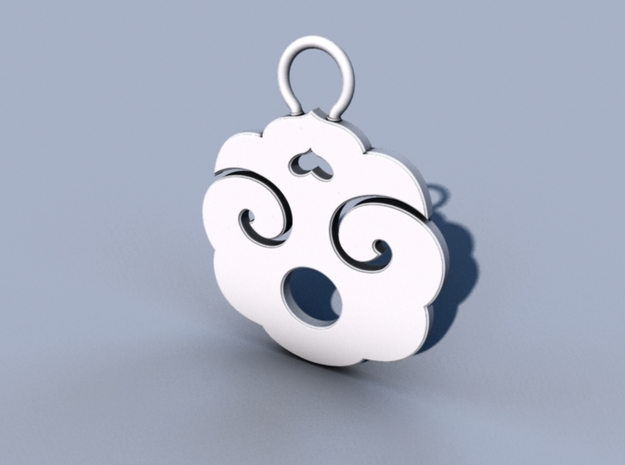 """Choban"" Japanese single ornament 3d printed Maya mental ray render"