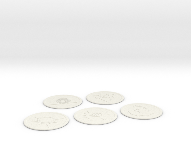 Ravnica Coasters Blank 1 in White Natural Versatile Plastic
