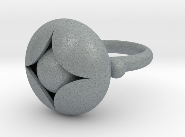 Ellipse Flower Ring #2 @ 20 mm with berries 3d printed