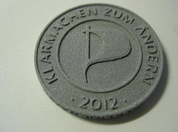 Piratenmünze 4cm 3d printed Alumide