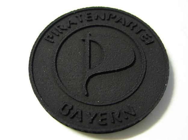 Piratenmünze 4cm 3d printed Strong & Flexible Plastics Schwarz