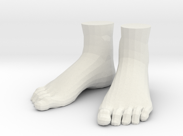 "LittleFeet for Everything - Human (1.5""h) in White Natural Versatile Plastic"