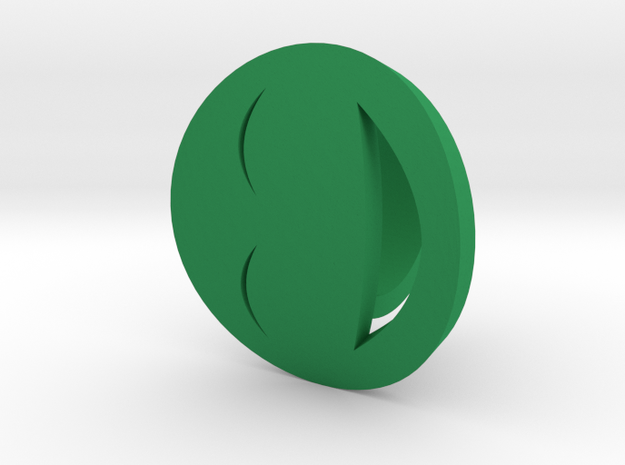 Smile/Laughing Ring Size 8, 18.1 mm in Green Processed Versatile Plastic