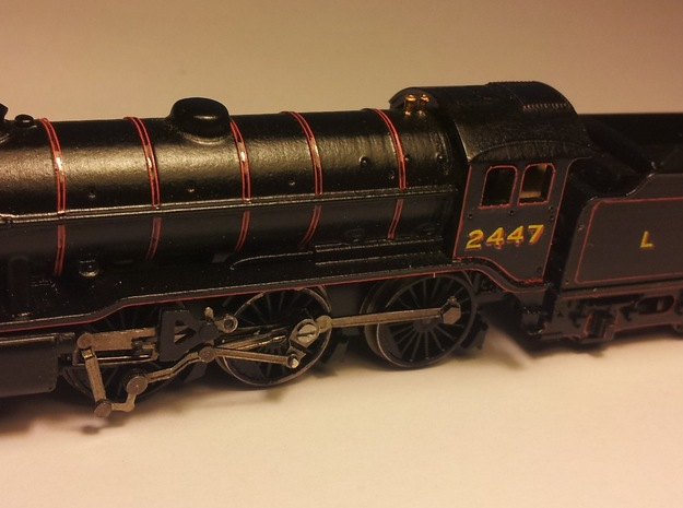 LNER K3 and GST Body Shell 3d printed Lowered Farish chassis with B1 wheels fitted