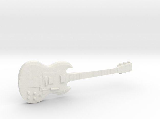 Gibson SG AC/DC Angus Young in White Natural Versatile Plastic