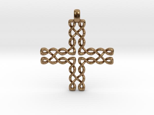 CELTIC CROSS Jewelry Pendant in Bronze | Brass | S in Natural Brass