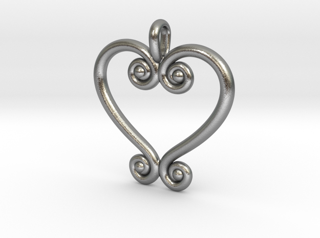 Swirling Love in Raw Silver