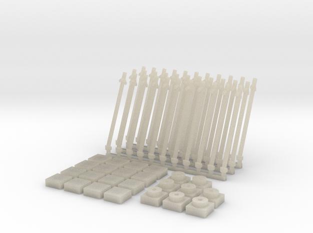 Antena inclinada(x33)+Baldosa1(x16)+placa1(x8) in White Acrylic
