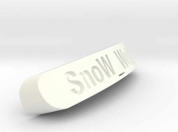 SnoW_Wolf Nameplate for SteelSeries Rival in White Processed Versatile Plastic