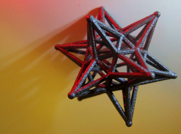 Dodeca Star Wire - 4cm in Polished Bronze Steel