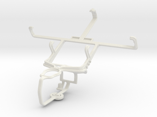 Controller mount for PS3 & Huawei Ascend D quad XL in White Natural Versatile Plastic