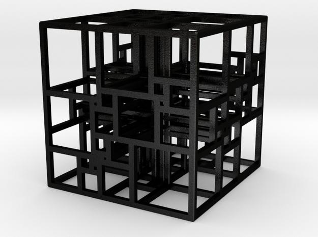Triple SPSS Cube 28-408 (large) in Matte Black Steel