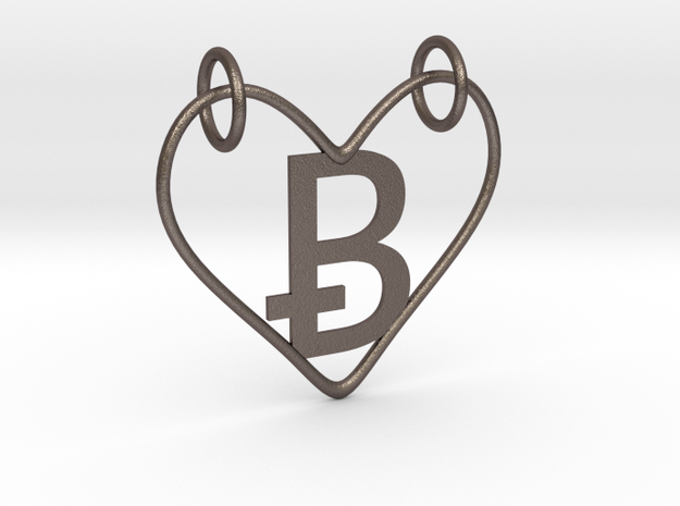 Valentines (NEW B) in Polished Bronzed Silver Steel