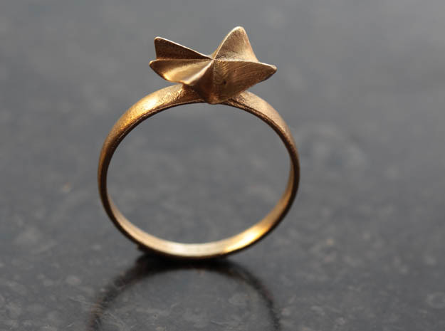 Flora Ring in Raw Brass