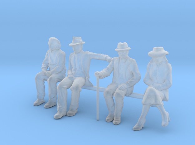 HO seated Figures in Smoothest Fine Detail Plastic
