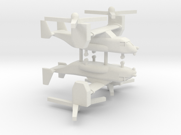 1/350 CV-22 / MV-22 Osprey (x2) in White Natural Versatile Plastic