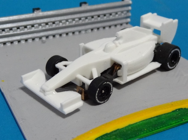 HO F1 2014 Slot Car Body in White Processed Versatile Plastic