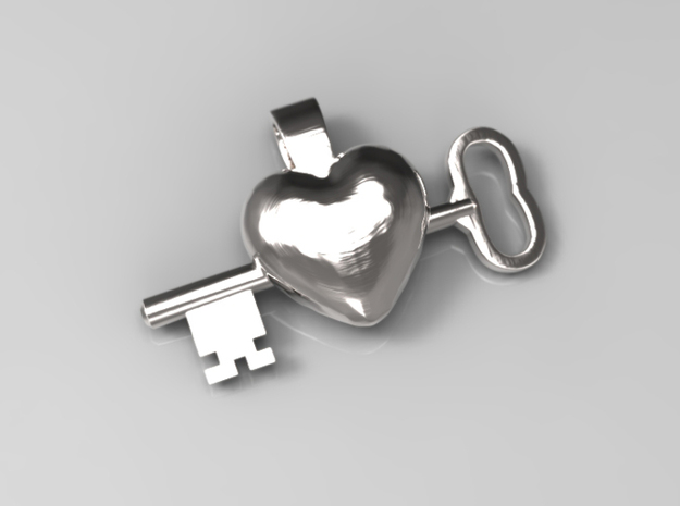The key to a heart, 003 in Polished Silver