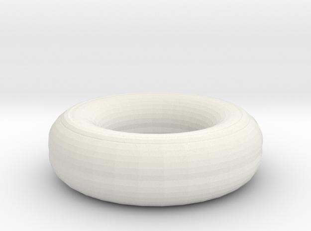 Caramel And Jam Donut in White Natural Versatile Plastic