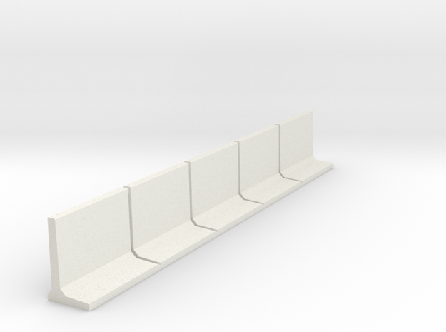 HO Retaining Wall 1500mm 5pc in White Natural Versatile Plastic