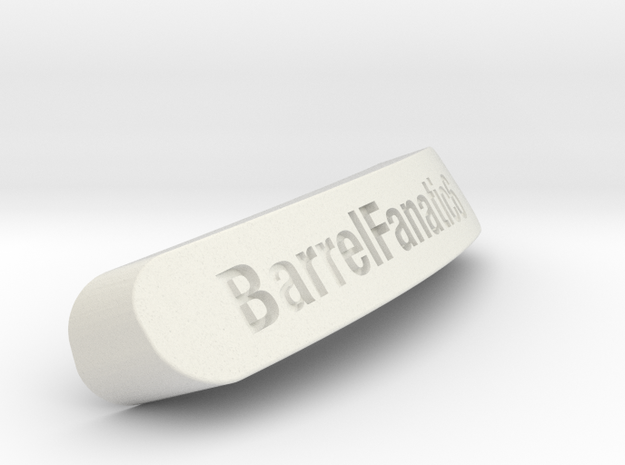 BarrelFanatic6 Nameplate for SteelSeries Rival in White Natural Versatile Plastic