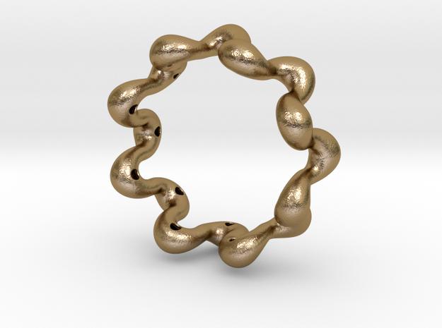 Wavy bracelet 80 in Polished Gold Steel
