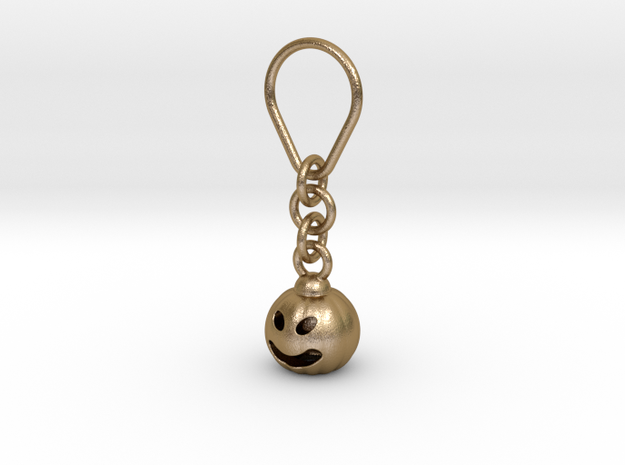 Halloween keychain  in Polished Gold Steel