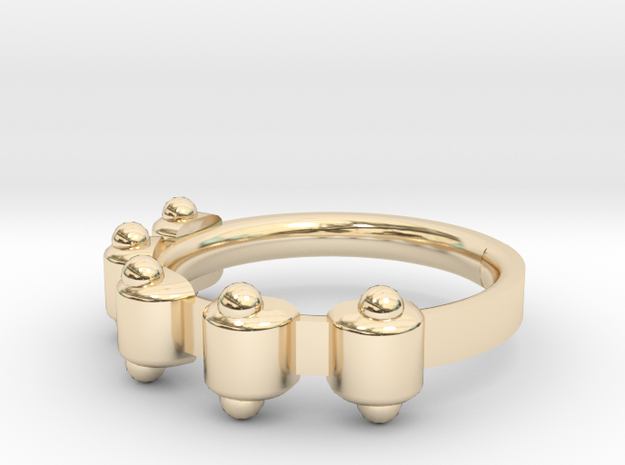 Jester Ring - Sz. 8 in 14K Yellow Gold