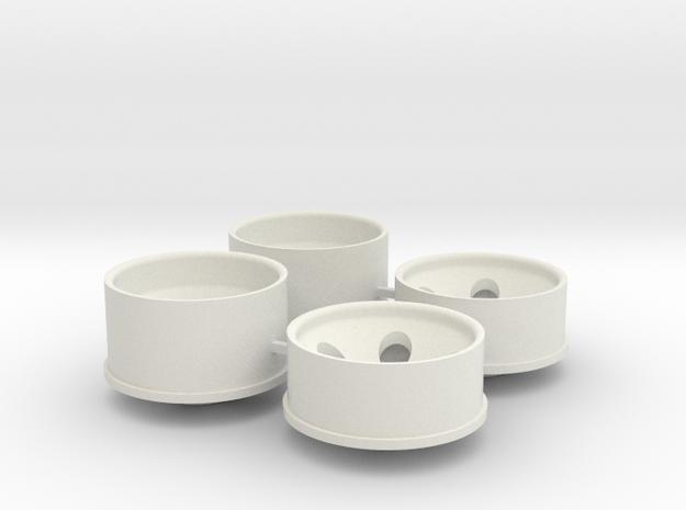 3 Offset in White Natural Versatile Plastic